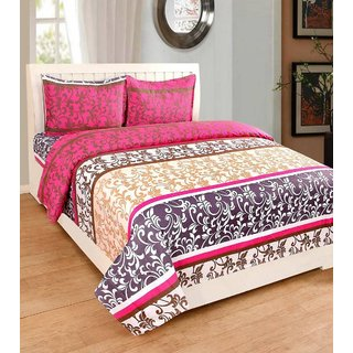 EXOTIC COTTON 1 DOUBLE BED SHEET WITH 2 PILLOW COVERS EXDB-18