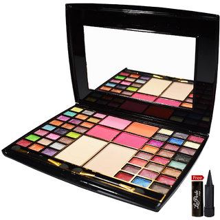 Mars 48 Color Eye shadow 4 + Blusher + 2 Compact Powder With Free LaPerla Kajal