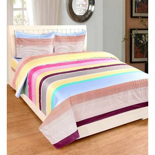 EXOTIC COTTON 1 DOUBLE BED SHEET WITH 2 PILLOW COVERS EXDB-19