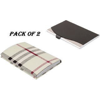 Mr.Rock RFID Steel ATM / Visiting /Credit Card Holder, New Year Special Gift ,Business Card Case Holder, (Pack Of 2)