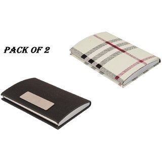 Mr.Rock RFID Steel ATM / Visiting /Credit Card Holder, Special Gift ,Business Card Case Holder, (Pack Of 2)
