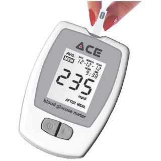 ACE GLUCOMETER WITH 100 TEST STRIPS