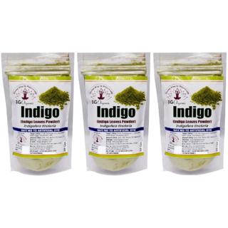Indigo Leaf Powder Organic Hair Color For Black 3x100 Gms