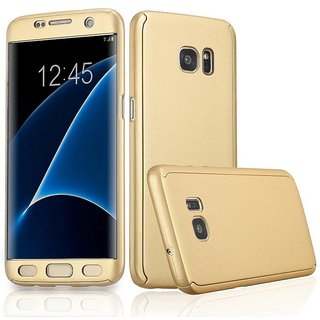 012c31a548 Anvika ORIGINAL 100% 360 Degree Samsung Galaxy J7 Prime Front Back Cover  Case WITH TEMPERED (GOLD)