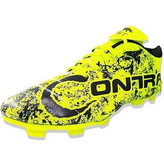 Port Unisex Green Contra Shbamax PU Soccer Shoes(Size 4 UK/IND
