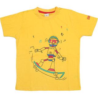 Boys Casual Printed Round Neck Half Sleeve T-Shirt