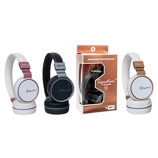 Signature VMB-19 High Quality Stereo Bass Bluetooth Headphone with call function and mp3 card support for all Smartphone