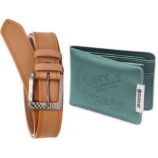 Mens Zone Formal Fabric Green Bi-fold Wallet pack of 2