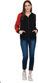 Urban Republic Navy Cotton Hooded Jackets For Women