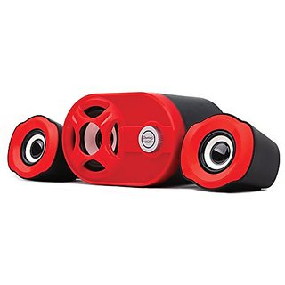 Quantum QHM6200 USB 2.1 Mini Speaker (Color Black And Red)