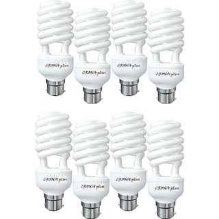 8pcs. CFL 25W Lamp, 80 Energy Power Saver Light With 2 Year Warranty, Ideal For Bedrooms, Study room, Shop, Office Etc.