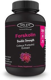 Sinew Nutrition Forskolin Extract - (60 Capsules) 500 mg per Serving, Pure Natural Fat Burner Formula