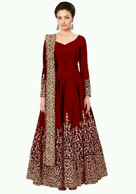 Dream Style Present Stitched Designer Stylish Red Gown