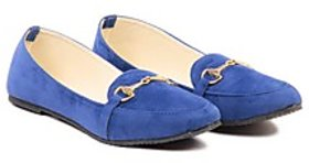 TEN Women's Blue Loafers