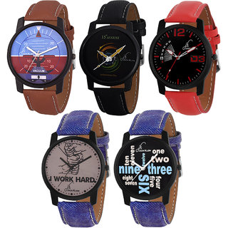 Jack Klein Combo of 5 Unisex Watches