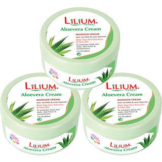 Lilium Aloe Vera Cream 200ml Pack of 3