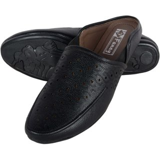 Austrich Black Mens Ethnic Footwear