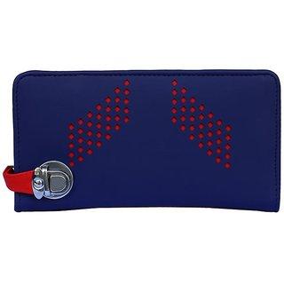 Fantosy Blue and black women wallet