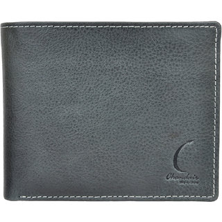 Chandair Pure Leather EARTH STONE GREY Mens Wallet (KL-CH-07_3)
