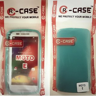 Motorola Moto E XT1022 Soft Jelly Rubberized Back Case Cover SiliconGlossy Green