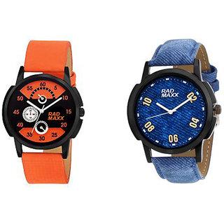 Rad Maxx Orange Blue Combo Analog Wrist Watch For Man,s
