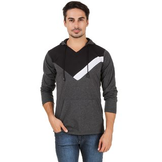 Aurelio Marco Grey Black Hooded T-Shirt