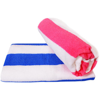 xy decor set of 2 cotton bath towels