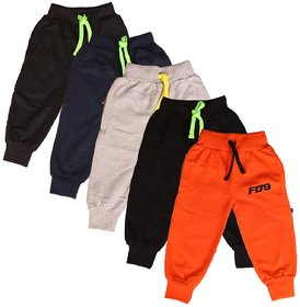 Finger's Toddlers Cotton Track Pant Joggers-Pack of 5