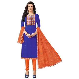 Srishti Creations Women's Floral Cotton Ethnic Dresses Material