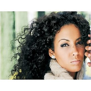 Virgin Clip On Indian Natural Curly Hair Hand Tiednatural Black16 Inch