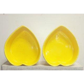 Heart shape baking bowls, set of 2 pcs