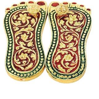 Brass Laxmi Charan Paduka / Charan Paduka For Pooja