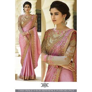 Buy Vomoline Art Silk Pink Embroidered Saree Online Get 0 Off