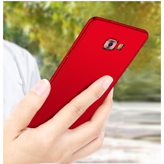 best sneakers 5e3bd bd393 Samsung Galaxy C7 Pro Red Colour 360 Degree Full Body Protection Front Back  Case Cover Standard Quality