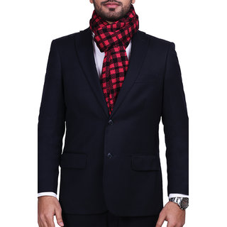 CHOKORE Mens Casual Red & Black color check Acrylic Woolen Muffler Scarf & Stole for Winter.