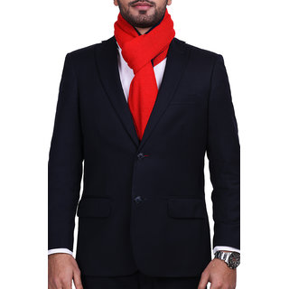 CHOKORE Two-in-One Mens Casual Red and Blue color Acrylic Woolen Muffler Scarf & Stole for Winter