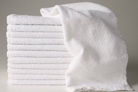 Bp Mega White Hand Towels(pack-of-6)