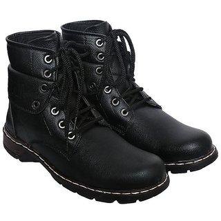 Sapience Men's Casual Lace-Up Boots (Black)