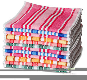 Iliv Cotton Multicolor Hand Towels (12X18 Inch) Combo Of 4