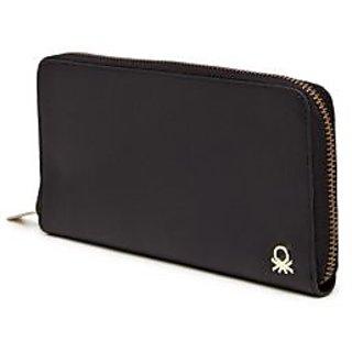 United Colors of Benetton Smart Black 100% Original Ladies Wallet In ... b45e87d52f