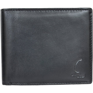 Chandair Pure Leather BLACKISH BUTTON STYLE Mens Wallet (KL-CH-33_40)