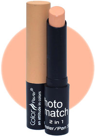 Color Fever Photo Match Radiant Complexion Concealer Pan Stick, 3.5gm (Nude Peach)
