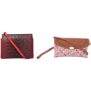 Exotique Women's Red Casual Bags Combo (HC0013RD)