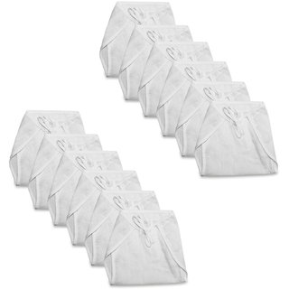 Tumble White Cloth Nappy With Tie Knot Pack of 12 - 12 to 18 Months