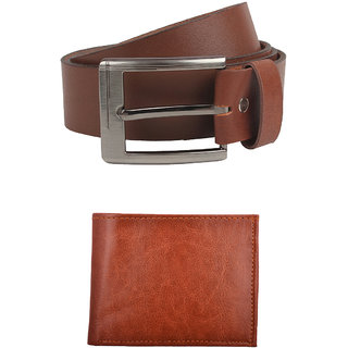 Exotique Mens Tan Casual Belt Wallet Combo (EC0051TN)