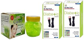 Dr. OXYN Diabetic Care Socks For Men  Women With Aloevera Gel - Diabetic Socks (Combo Pack)