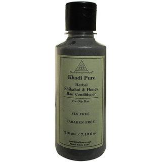 Khadi Pure Herbal Shikakai  Honey Hair Conditioner Paraben Free - 210ml