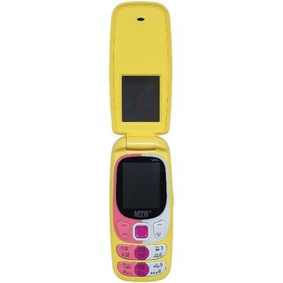Mtr Mt Smart Dual Sim Mobile Phone With Flap In Yellow Color