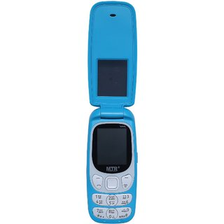 Mtr Mt Smart Dual Sim Mobile Phone With Flap In Blue Color
