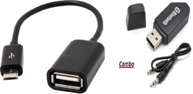 Combo of Car Bluetooth Device with OTG Cable